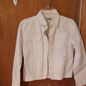 Cute off white Jean jacket.